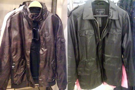 Jaquetas da Zara e Renner